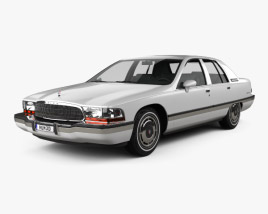 3D model of Buick Roadmaster sedan 1991