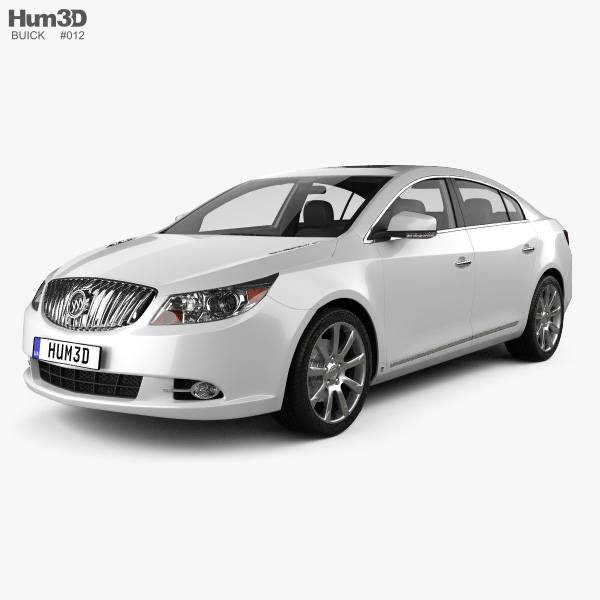 3D model of Buick LaCrosse (Alpheon) with HQ interior 2012