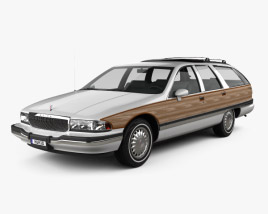 3D model of Buick Roadmaster wagon 1991
