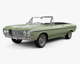 3D model of Buick Skylark convertible 1964