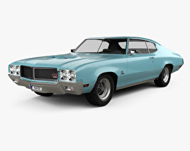 3D model of Buick GS 455 Stage 1 coupe 1970
