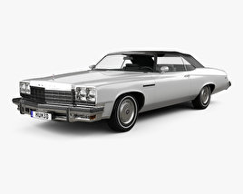 3D model of Buick LeSabre convertible 1975