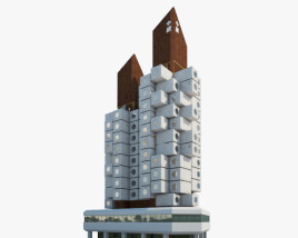 Nakagin Capsule Tower 3D model