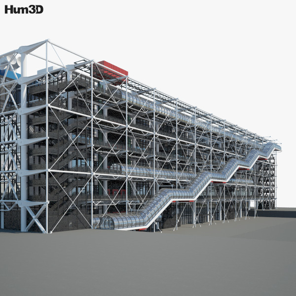 3D model of Centre Georges Pompidou