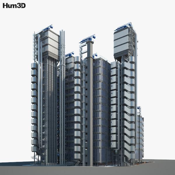Lloyd's building 3D model