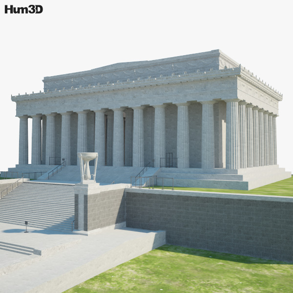 3D model of Lincoln Memorial