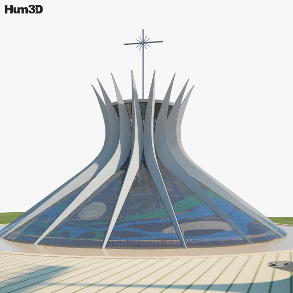 Cathedral of Brasilia 3D model
