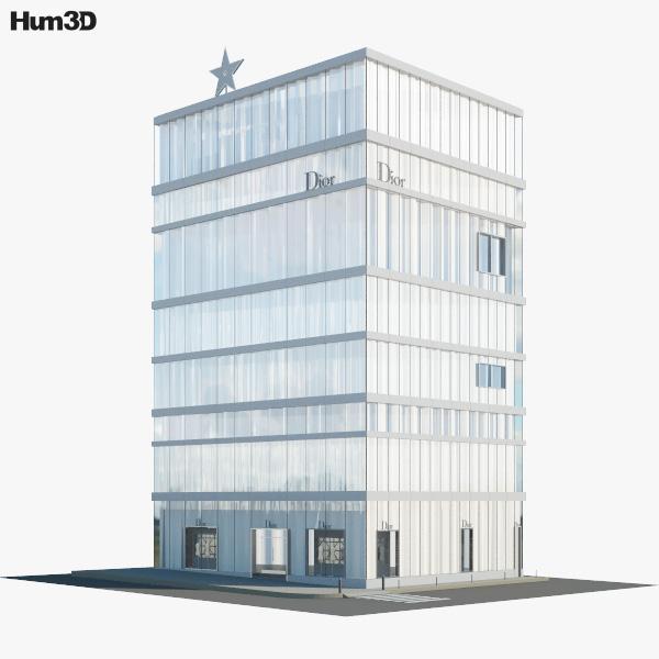 Dior store in Tokyo 3D model