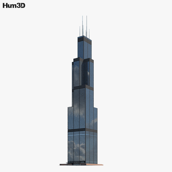 3D model of Willis Tower