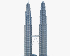 3D model of Petronas Twin Towers