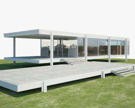 3D model of Farnsworth House