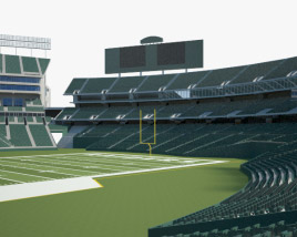 3D model of Oakland Alameda Coliseum