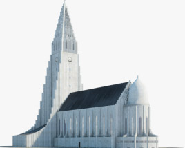 3D model of Hallgrimskirkja