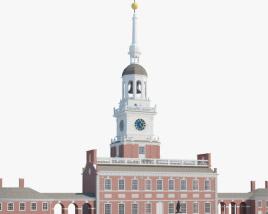 3D model of Independence Hall