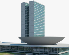 3D model of National Congress of Brazil