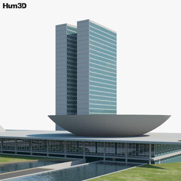 National Congress of Brazil 3D model