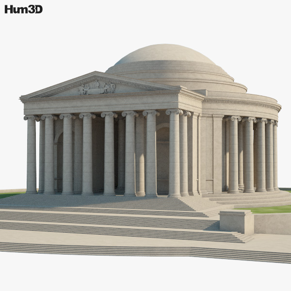 3D model of Thomas Jefferson Memorial