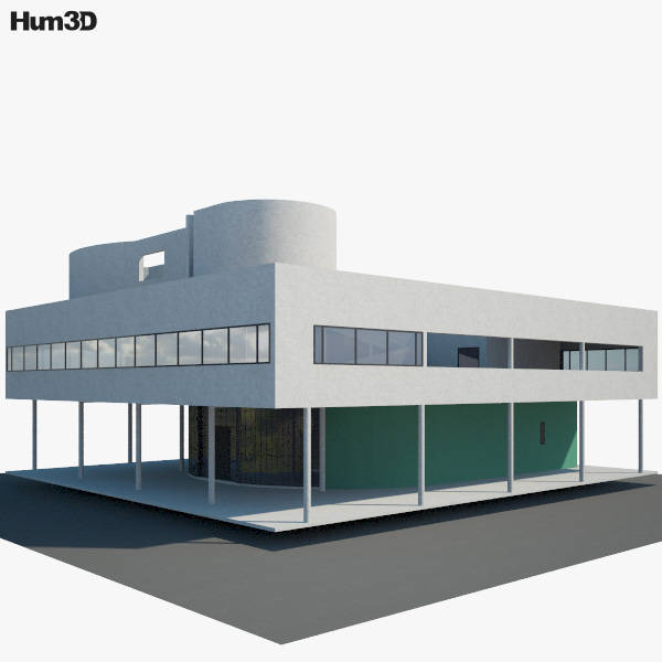 3D model of Villa Savoye