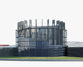 3D model of Seat of the European Parliament in Strasbourg