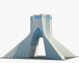 3D model of Azadi Tower