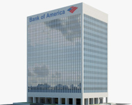 3D model of Bank of America Financial Center in Las Vegas