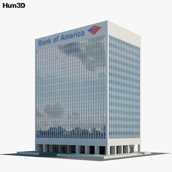 3D model of Bank of America Financial Center in Las Vegas
