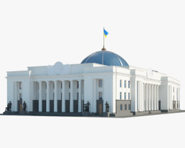 Verkhovna Rada of Ukraine 3D model