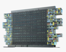 3D model of Manchester Civil Justice Centre