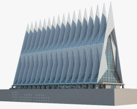 3D model of United States Air Force Academy Cadet Chapel