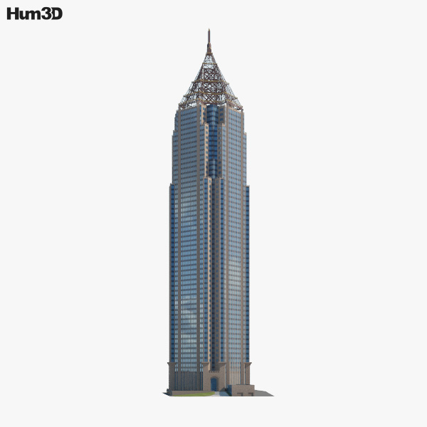 Bank of America Plaza (Atlanta) 3D model