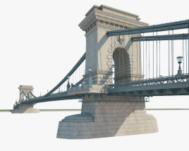 3D model of Chain Bridge (Budapest)