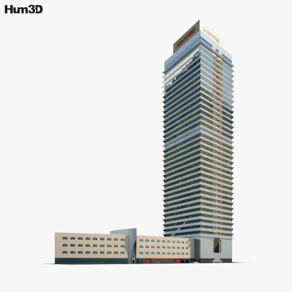Torre Mapfre 3D model