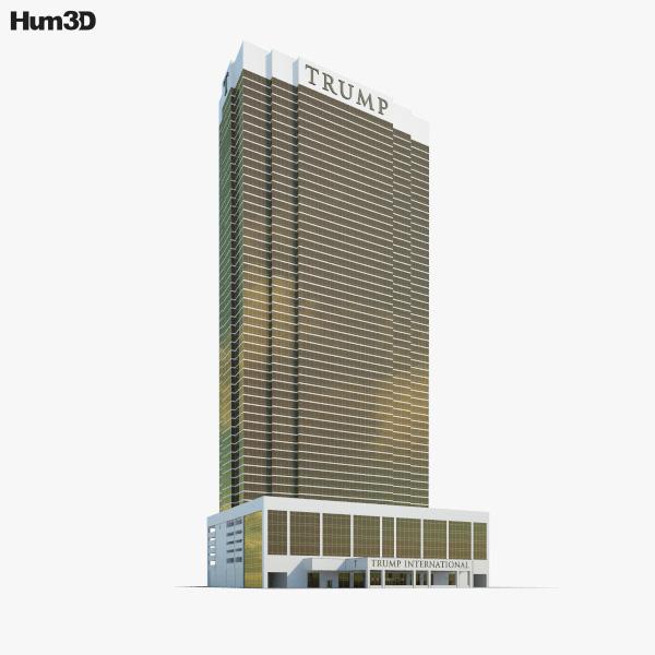 Trump International Hotel Las Vegas 3D model