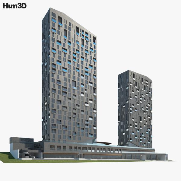 Magma Tower 3D model