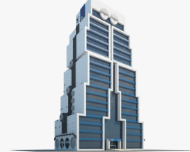 United Overseas Bank Bangkok 3D model