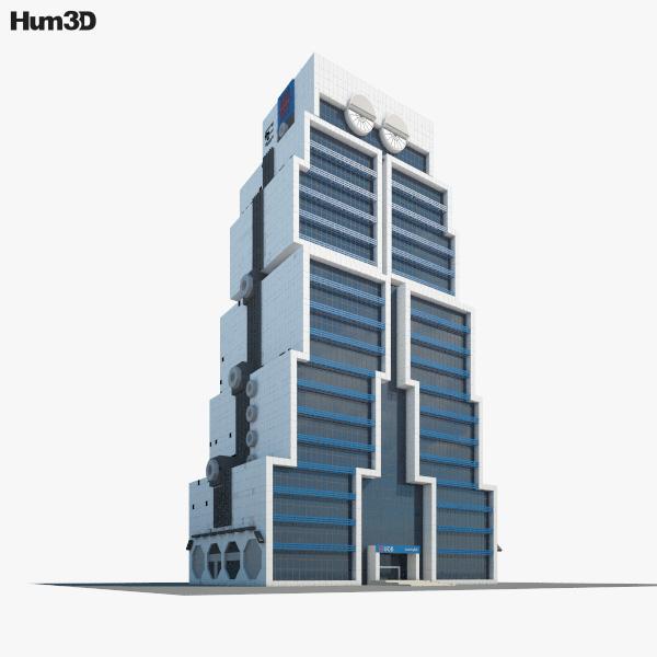 3D model of United Overseas Bank Bangkok