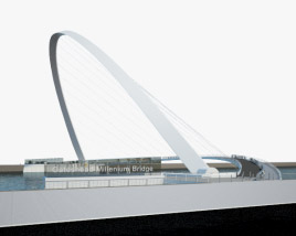 Gateshead Millennium Bridge 3D model