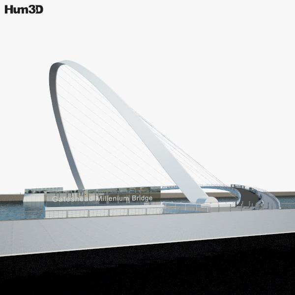3D model of Gateshead Millennium Bridge