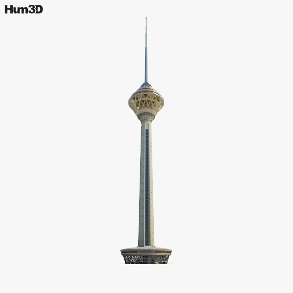 3D model of Milad Tower