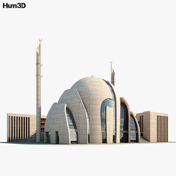 Cologne Central Mosque 3D model
