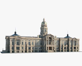 Wyoming State Capitol 3D model
