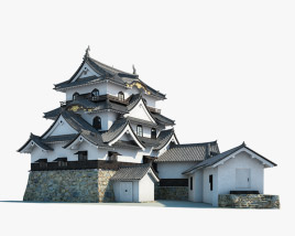3D model of Hikone Castle