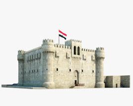 3D model of Citadel of Qaitbay