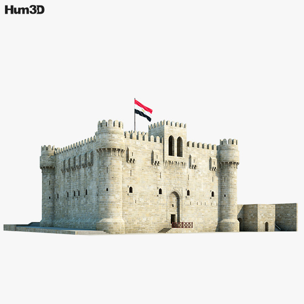 3D model of Citadel of Qaitbay