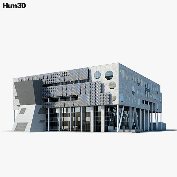 3D model of The House of Music in Aalborg