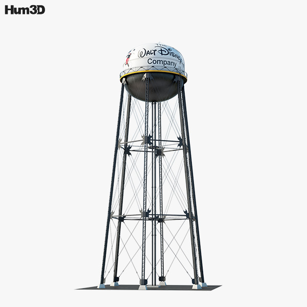 3D model of Walt Disney Studios Water Tower