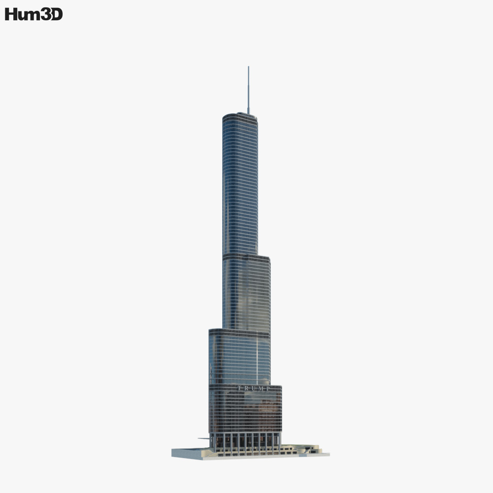 Trump International Hotel and Tower Chicago 3D model