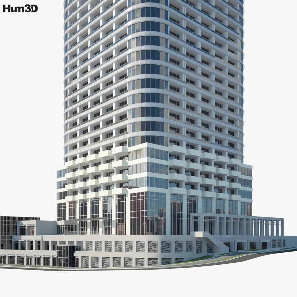 Ark Hills Sengokuyama Mori Tower 3d model
