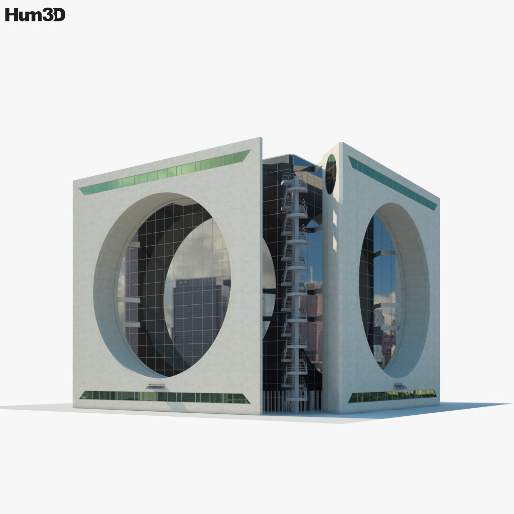 3D model of Calakmul Corporate Building Mexico