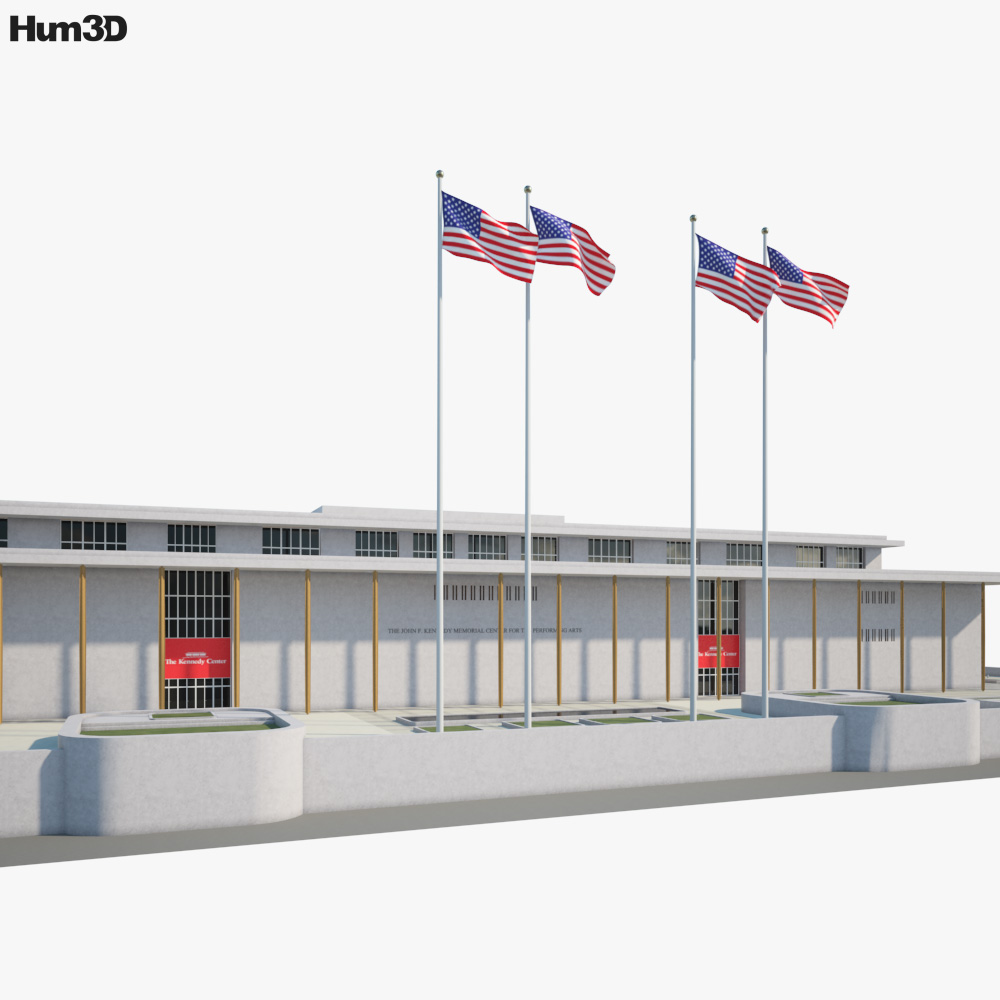 John F. Kennedy Center for the Performing Arts 3D model